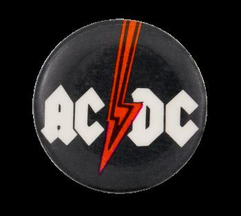 AC/DC Red Lightening Bolt Music Button Museum