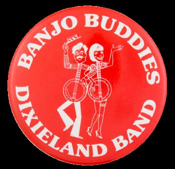 Banjo Buddies Dixieland Band Music Button Museum