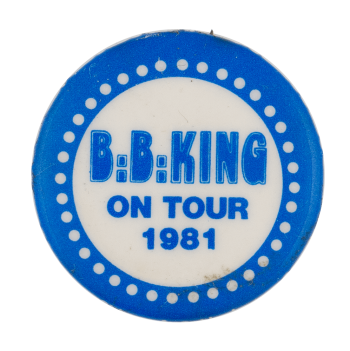 BB King on tour 1981 Event Busy Beaver Button Museum