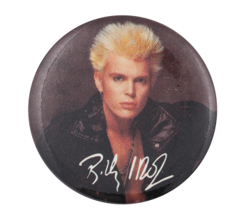 Billy Idol Photograph Music Button Museum