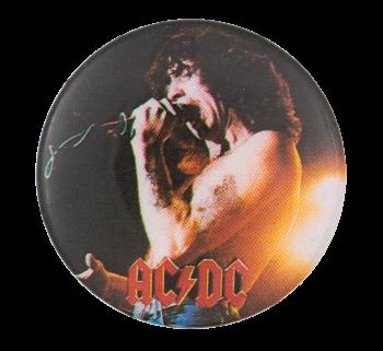 Bon Scott AC DC Music Button Museum