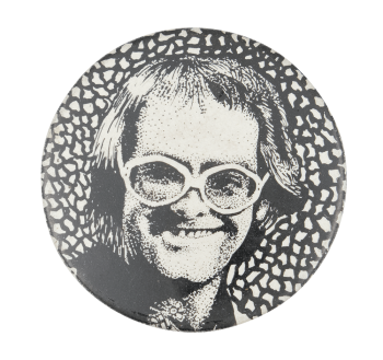 Elton John Illustration Music Button Museum