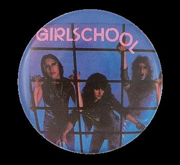 Girlschool Screaming Blue Murder Music Button Museum
