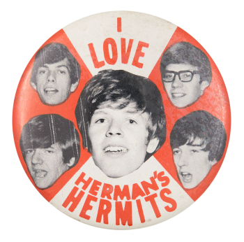 I Love Hermans Hermits Music Button Museum