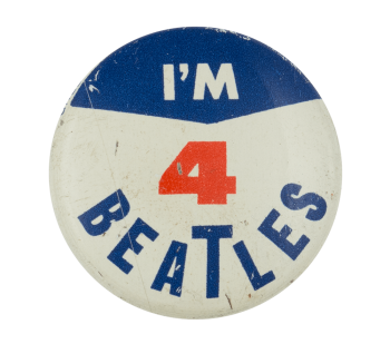 I'm 4 Beatles Blue Music Button Museum