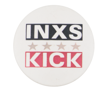 INXS Kick Music Button Museum