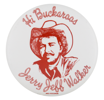 Jerry Jeff Walker Music Button Museum