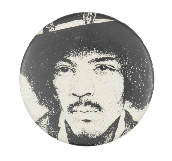 Jimi Hendrix Illustration Music Button Museum