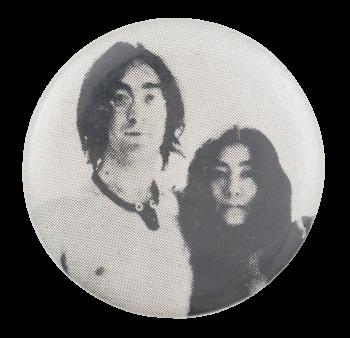 John And Yoko Photograph Music Button Museum