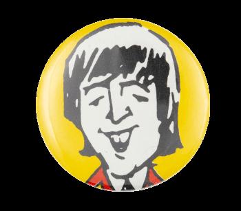 John Lennon Illustrated Music Button Museum