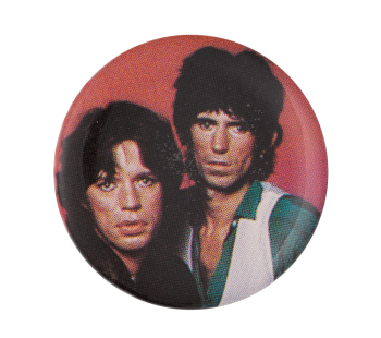 Mick Jagger and Keith Richards Music Button Museum