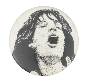 Mick Jagger Illustration Music Button Museum