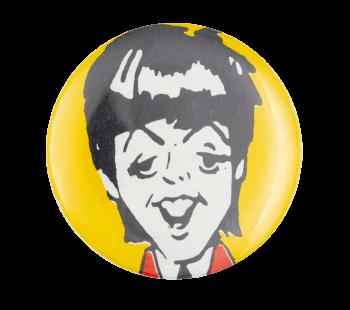 Paul McCartney Illustrated Music Button Museum