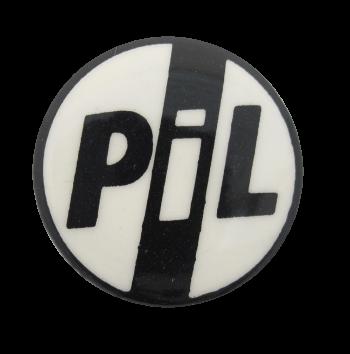 Public Image Ltd Black and White Music Button Museum