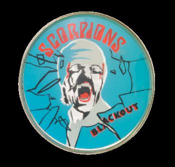 Scorpions Blackout Sparkley Music Button Museum