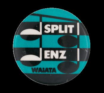 Split Enz Waiata Blue Music Button Museum
