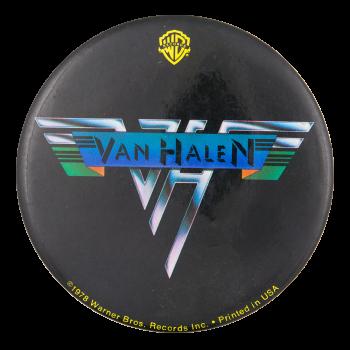Van Halen Warner Brothers Music Button Museum