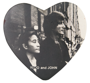 Yoko and John Heart Music Button Museum