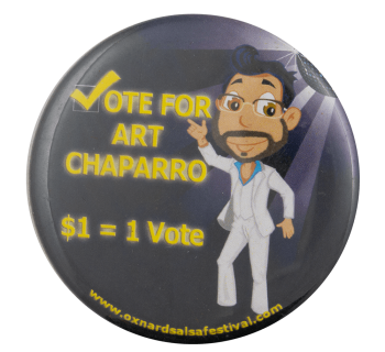 Vote for Art Event Busy Beaver Button Museum