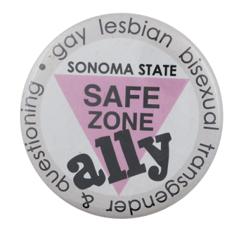 Safe Zone Ally, School, Cause, Busy Beaver Button Museum