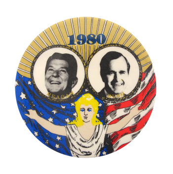 1980 Reagan Bush Political Button Museum
