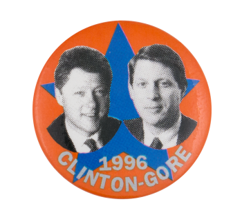 1996 Clinton Gore Political Button Museum