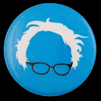Bernie Glasses Blue Political Busy Beaver Button Museum