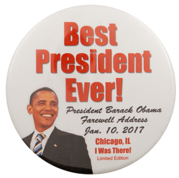 Best President Ever Obama Political Busy Beaver Button Museum