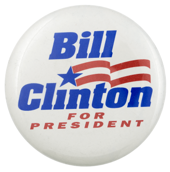 Bill Clinton for President Political Busy Beaver Button Museum
