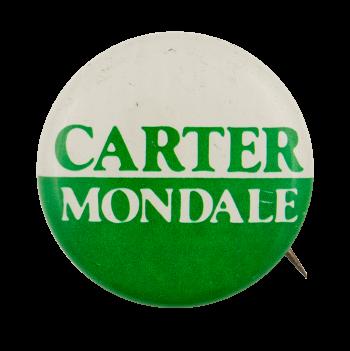 Carter Mondale White Over Green Political Busy Beaver Button Museum