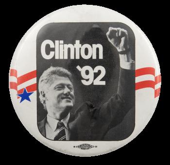 Clinton '92 Political Busy Beaver Button Museum