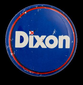 Dixon Check Political Busy Beaver Button Museum