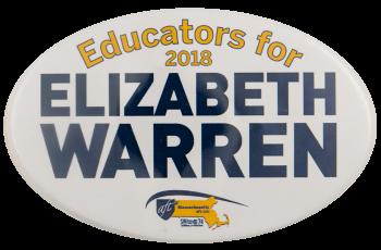 Educators for Elizabeth Warren Political Busy Beaver Button Museum