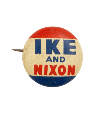 Ike and Nixon Small Political Busy Beaver Button Museum