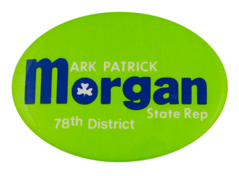 Mark Patrick Morgan Political Busy Beaver Button Museum