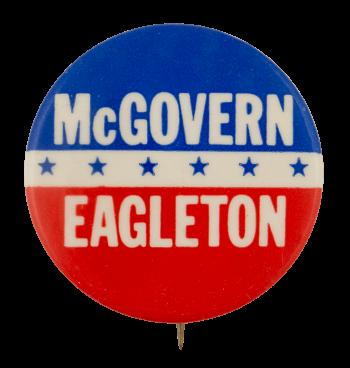 McGovern Eagleton Political Busy Beaver Button Museum