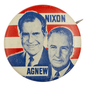 Nixon Agnew Photo Political Busy Beaver Button Museum