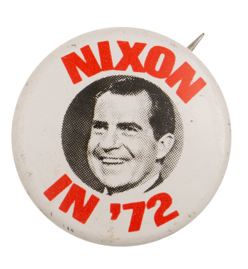 Nixon in 72 Political Busy Beaver Button Museum