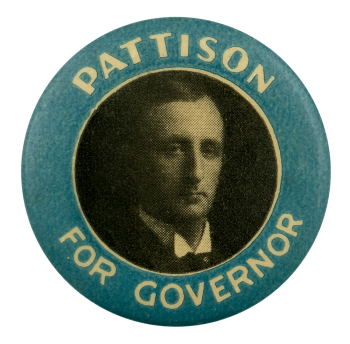 Pattison for Governor Political Busy Beaver Button Museum