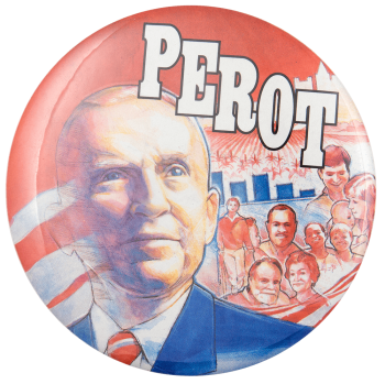 Perot Painting Political Busy Beaver Button Museum