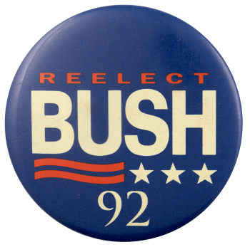 Reelect Bush Political Busy Beaver Button Museum