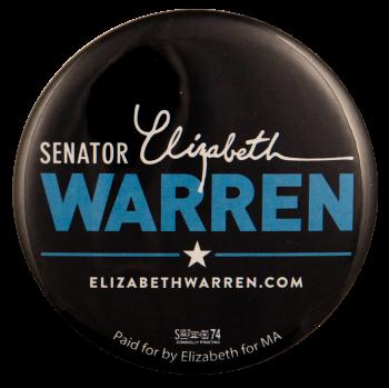 Senator Elizabeth Warren Political Busy Beaver Button Museum
