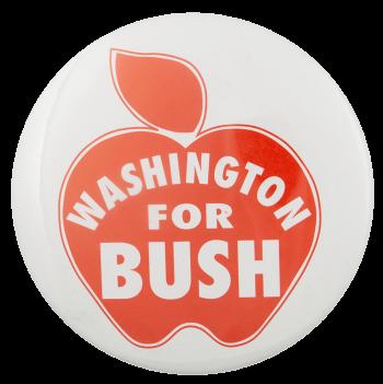 Washington for Bush Political Busy Beaver Button Museum