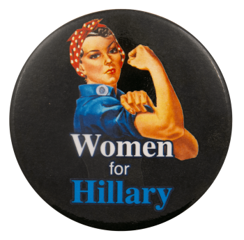 Women for Hillary Political Busy Beaver Button Museum