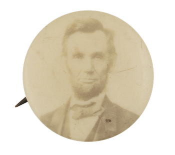 Abraham Lincoln Photograph Political Button Museum