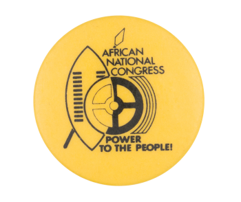 African National Congress Power to the People Political Button Museum