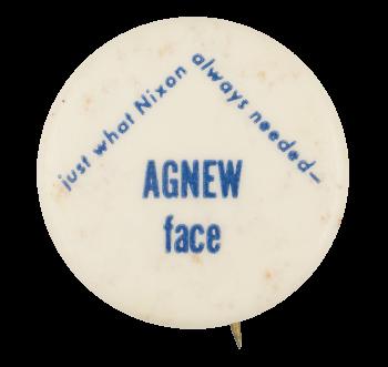 Agnew face Political Button Museum