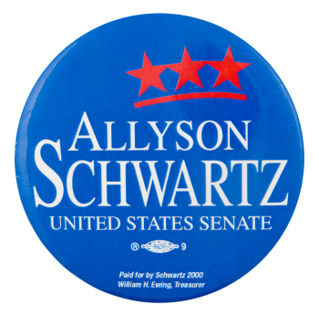 Allyson Schwartz United States Senate Political Button Museum