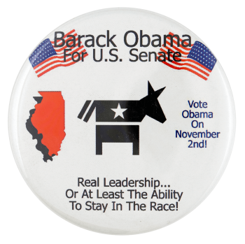 Barack Obama for US Senate Icons Political Busy Beaver Button Museum