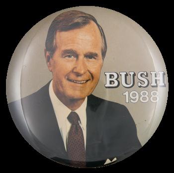 Bush 1988 Political Button Museum